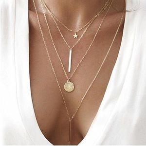 Multi-Layered, Gold Necklace